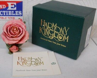 Harmony Kingdom Original Single Pink Rose 3107/3600  Limited Edition