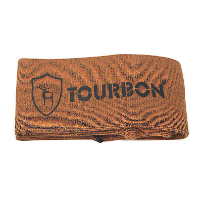 Tourbon Rifle Gun Sock Cover Bag Shotgun Sleeve Sack Shooting Orange 134.5*10 cm