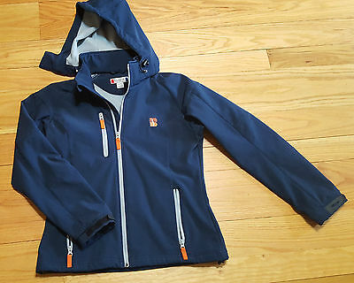 CLIQUE Womens Medium Blue Coat warm fleece lined FLAWLESS Jacket hooded $89
