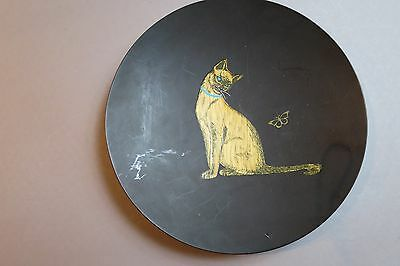 Vintage Couroc of Monterey Utility Dish or Ashtray w/Cat