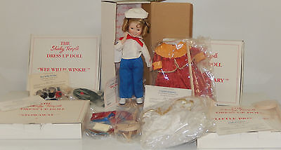 Shirley Temple Dolls Of Silverscreen Captain January Doll W 4 Outfits In Box Lot