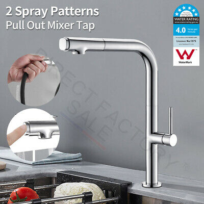 Modern Design Swivel Kitchen Stain Mat Brushed Pull Out Spout Black Mixer Tap