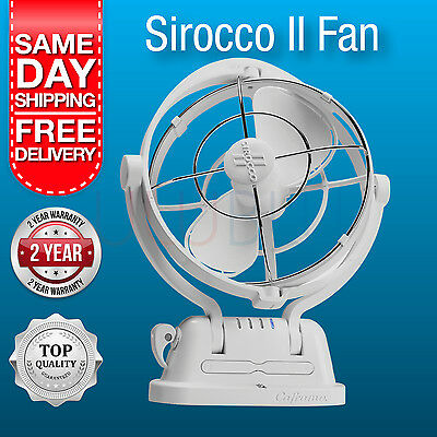 NEW Sirocco II Fan Caframo 12/24 Volt White Caravan / Boat Fan New Model