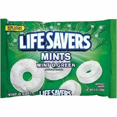 Life Savers Mints Wint O Green Hard Candy Individually Wrapped  13 oz bag