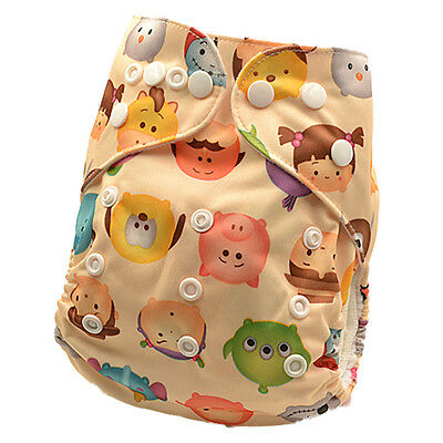 New Modern Cloth Nappy Adjustable Reusable FREE Insert MCN Nappies Nappy (D95)