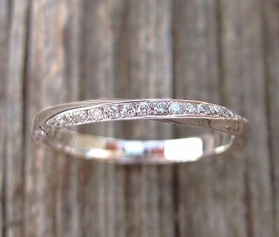 Mobius diamond wedding band, Diamond wedding eternity band, Mobius diamond ring