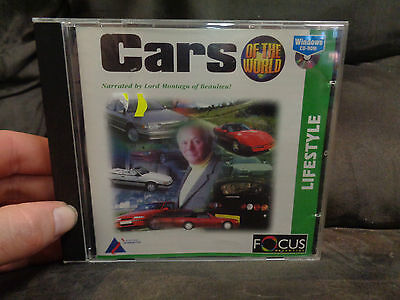 CARS OF THE WORLD_used CD rom_ships from AUSTRALIA_A33