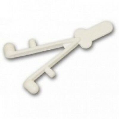 Wishbone Clip V Y shape - White for Swimming Pool Telescopic Poles Aussie Gold