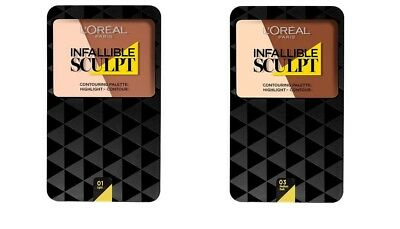 *NEW* L'Oreal Paris Infallible Sculpt Palette 2 Shades FREE 1ST P&P SAME DAY