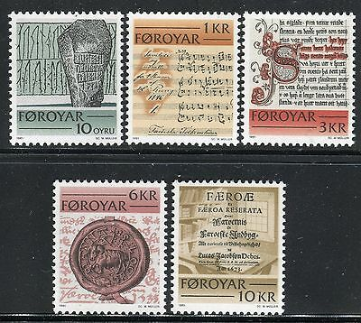 Faroe Islands 1981 Historic Writings/rune Stones/folksong/culture/seal/books Mnh