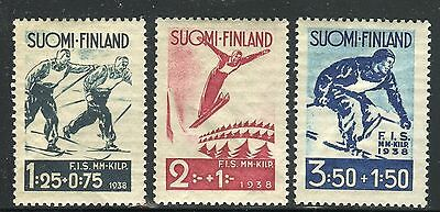 Finland 1938 Ski Champ. Held Lahti/skiing/skijumper/pine Tree/winter Sport Mnh