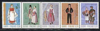 Finland 1972 Regional Costumes/perni/lapps/architecture/flower/mountain/tree Mnh