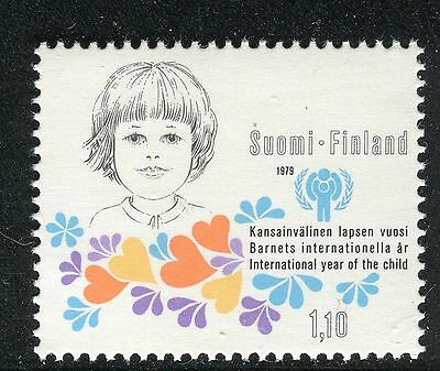 FINLAND 1979 INTL YEAR of the CHILD/UNICEF/EMBLEM/ORGANIZATION/HEARTH/CHILD FACE