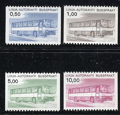 Finland 1981 Parcel Post Stamps/sisu Bus/transportation/car Mnh