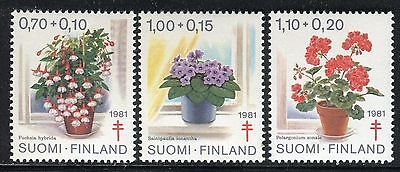 Finland 1981 Red Cross/flowers/nature/plants/fuchsia/geranium/african Violet Mnh