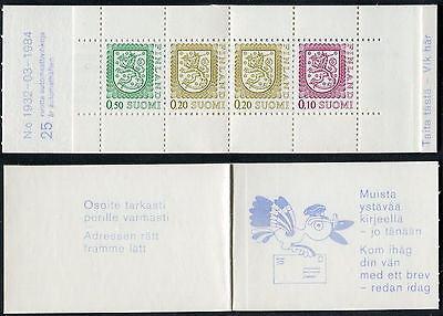 FINLAND 1984 FINNISH EMBLEM/LIONS/COATof ARMS booklet