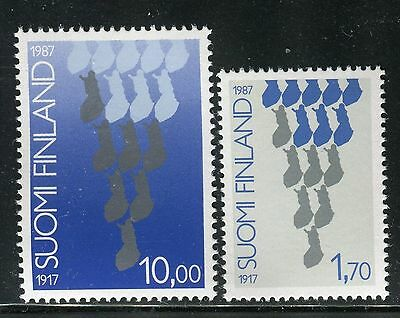 FINLAND 1987 DECLARATION of INDEPENDENCE 70th ANN/FINNISH MAP/HISTORY/TRADITION