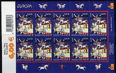 FINLAND 2002 EUROPA/CIRCUS/PERFORMING ARTS/ANIMALS/HORSES/MUSIC/DANCE/ sheet MNH