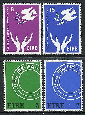Ireland 1974 Upu Centenary/intl Women's Year/peace/dove/olive Branch/hands