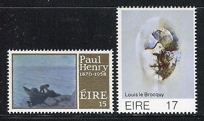 IRELAND 1976/77 ART/PAINTERS/LOBSTER POTS by PAUL HENRY/HEAD by LE BROCQUY