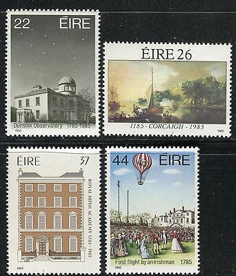 Ireland 1985 Celebrations/architecture/science/observatory/manned Flight/baloon
