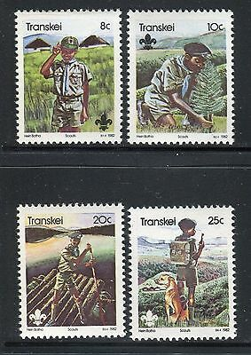 South Africa Transkei 1982 Boy Scouts Movement/nature/tree/uniform/dog/rafting
