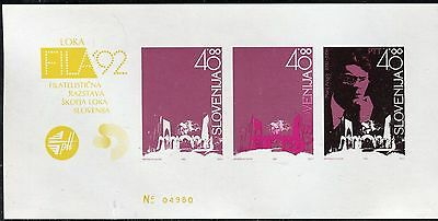 SLOVENIA 1992 MARIJ KOGOJ/COMPOSER/MUSIC/proof of colours sheet