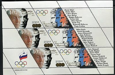 SLOVENIA 1992 SUMMER OLYMPICS GAME/BARCELONA/STUKELJ MEDALIST/APOLLO HEAD s/s