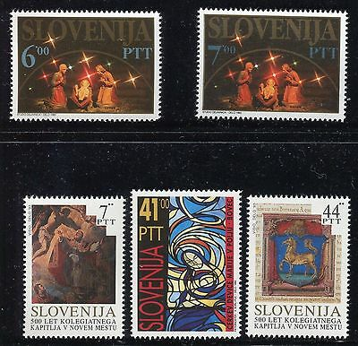 Slovenia 1992/93 Christmas/art/stained Glass Window/altarpiece/tintoretto/church