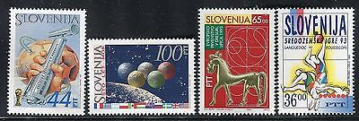 Slovenia 1993/94 Sport/dressage/soccer/football/athletics/earth/planets/flags