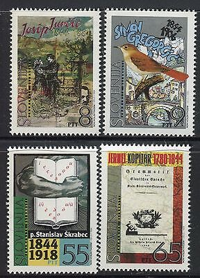 Slovenia 1994 Famous People/literature/writer/poet/linguist/art/books/bird/bridg