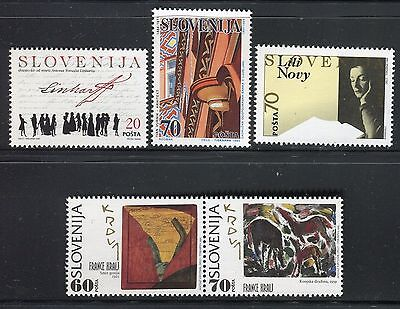 Slovenia 1995 Famous People/art/painter/playwright/architecture/poet/literature