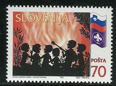 Slovenia 1995 Slovenian Boy Scouts/organization/flag/fire/music/guitar/nature
