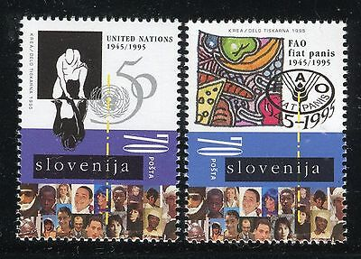 SLOVENIA 1995 UN/FAO 50th ANN/ORGANIZATION/EMBLEM/FOOD/PEOPLE/FRUITS/NATURE