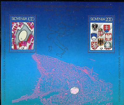 Slovenia 1997 Meet.presidents Central European Countries/map/arms/tartini Square