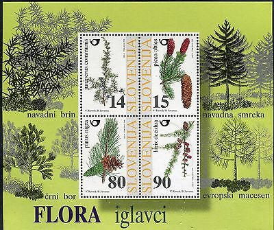 SLOVENIA 1998 NATURE/PLANTS/TREES/CONIFERS/PINUS NIGRA/LARIX/PICEA ABIES s/s