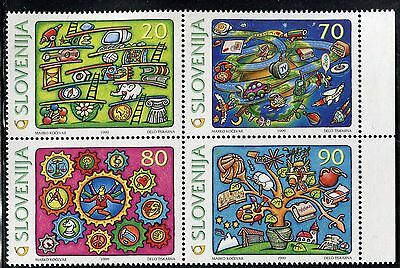 Slovenia 1999 New Millennium/comics/earth/techology/tree/animal/space/ship/music