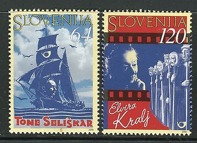 Slovenia 2000 Famous People/seliskar/poet/elvira Kralj/actress/theater/mask/ship