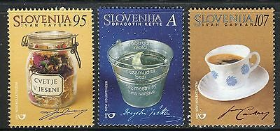 Slovenia 2001 Famous People/writers/flowers/coffe Cup/half Moon/kette/tavcar