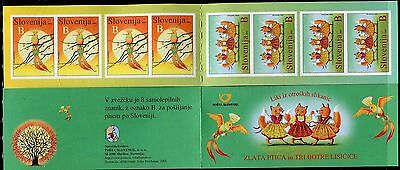 SLOVENIA 2003 FAIRY TALES/THREE VIXENS/GOLDEN BIRD/CARTOONS self-adhesive bookle