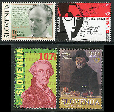 Slovenia 2004/05 Famous Men/writers/literature/art/linguist/scientist/portraits
