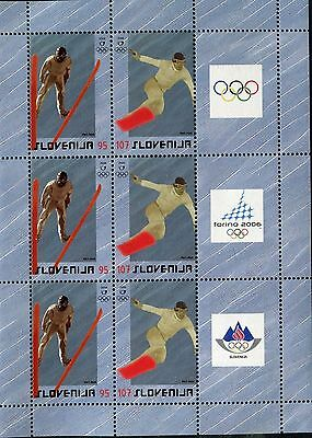 SLOVENIA 2006 WINTER OLYMPICS/TURIN/SKI JUMPER/SNOWBORDER/SPORT mini-sheet
