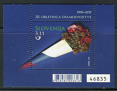 SLOVENIA 2011 INDEPENDENCE 20th ANN/BOUQUET FLOWERS/FLAG