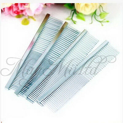 1pcs Puppy Pet Dog Cat Animal Stainless Steel Teeth Comb Hair Grooming Sales#MFR