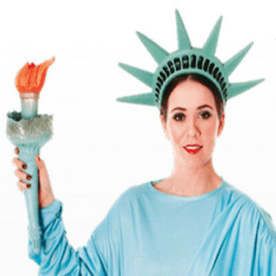 Costume Statue of Liberty Head Band and Torch USA Fancy Dress New York Costume