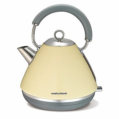 Morphy Richards 102003 Accents 1.5Ltr - 3Kw Pyramid Kettle Cream - Brand New !!!