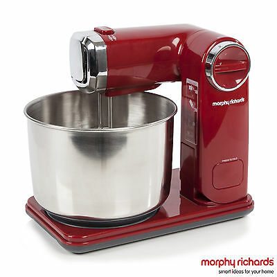 Morphy Richards 400404 Accents Folding Stand Mixer, 300 Watt - Red - Brand NEW