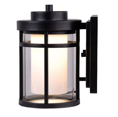 porch outdoor patio wall exterior lighting sconce light fixture lamp LED Black