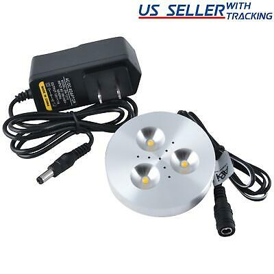 ABI 3W LED Puck Light Kit for Under Cabinet Lighting Warm White 25W Equivalent