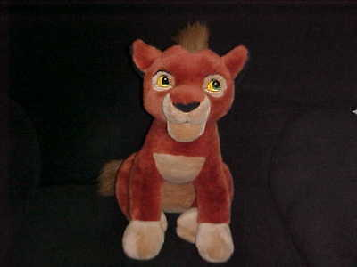 "16"" Disney Kovu Sitting Up Plush Toy From The Lion King Rare Version"